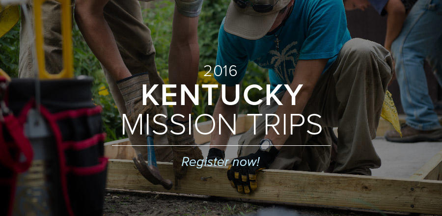 Appalachia Mission Trips 2016